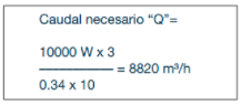 Fórmula caudal caso práctico