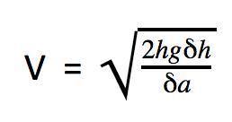 Fórmula para calcular la velocidad del aire