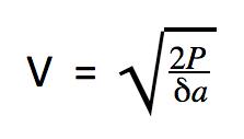 Fórmula velocidad del aire cuando calculamos la presión dinámica