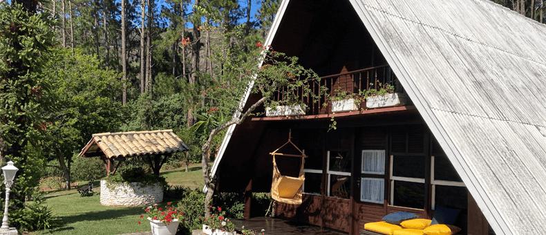 Casa prefabricada en el campo