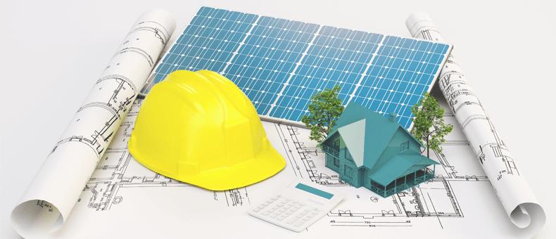 Plano de una construcción sostenible