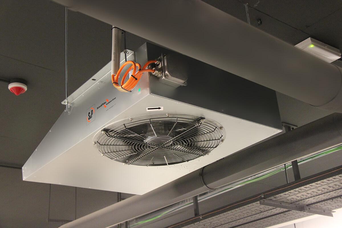 Instalación de jet fans